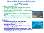 nonpoint source pollution and wetlands