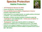 species protection habitat protection