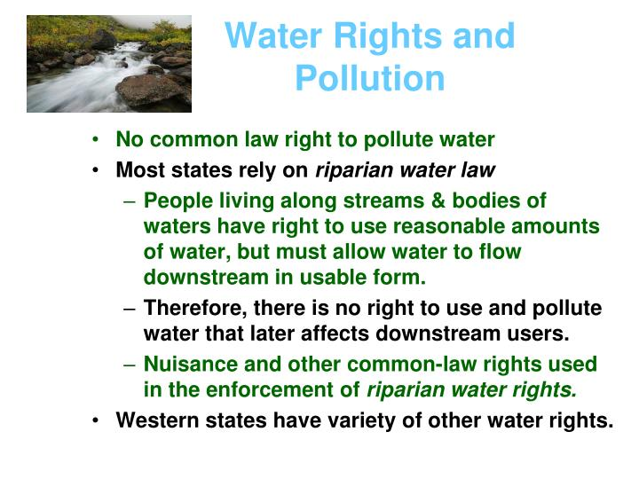 Water Rights and Pollution