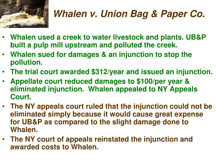 Whalen v. Union Bag & Paper Co.
