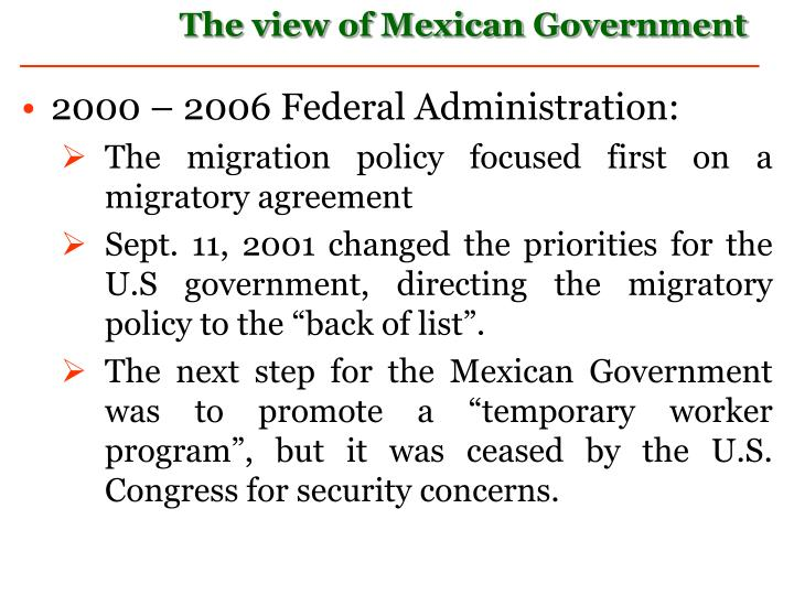 2000 – 2006 Federal Administration: