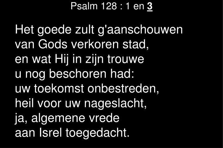 Psalm 128 : 1 en