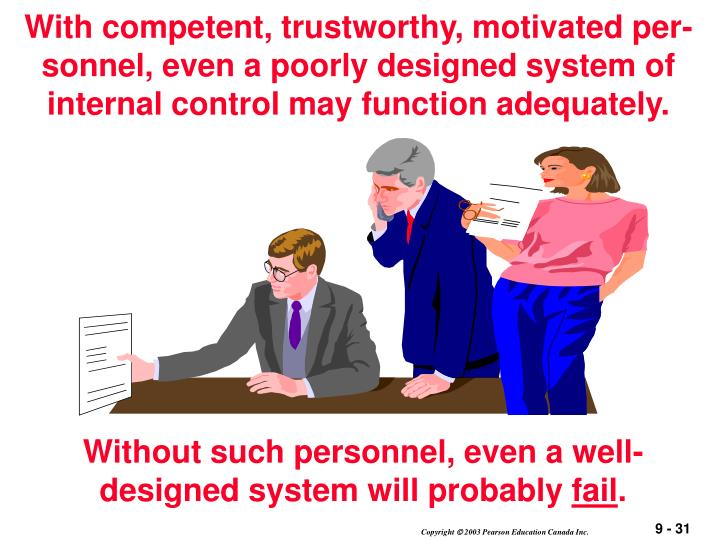 With competent, trustworthy, motivated per-