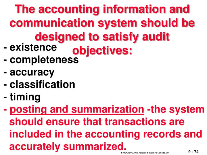 The accounting information and