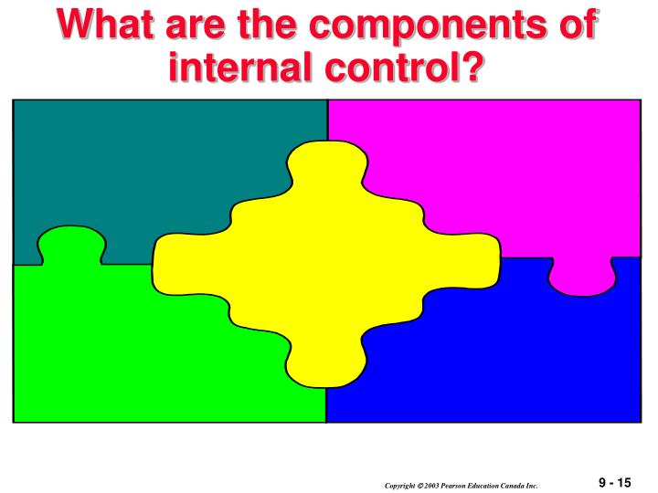 What are the components of internal control?