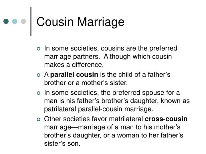 Cousin Marriage