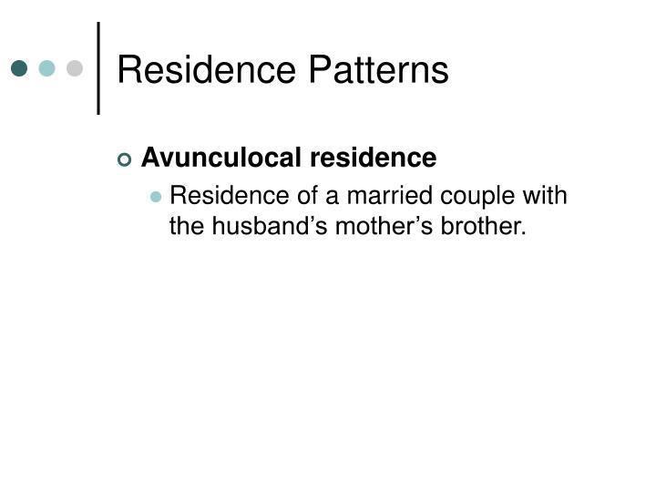 Residence Patterns