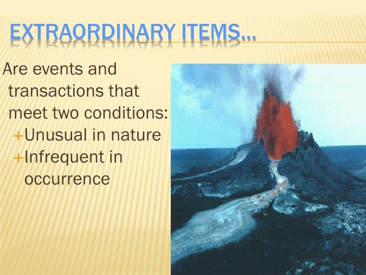 Extraordinary Items...