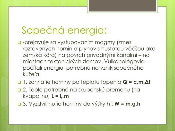 Sopečná energia:
