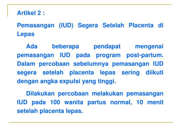 Artikel 2 :