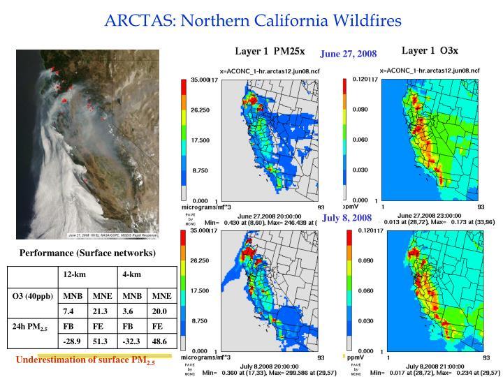 ARCTAS: Northern California Wildfires