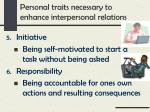 personal traits necessary to enhance interpersonal relations2