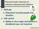 personal traits necessary to enhance interpersonal relations3