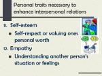 personal traits necessary to enhance interpersonal relations5