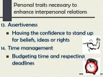 personal traits necessary to enhance interpersonal relations6