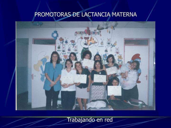 PROMOTORAS DE LACTANCIA MATERNA