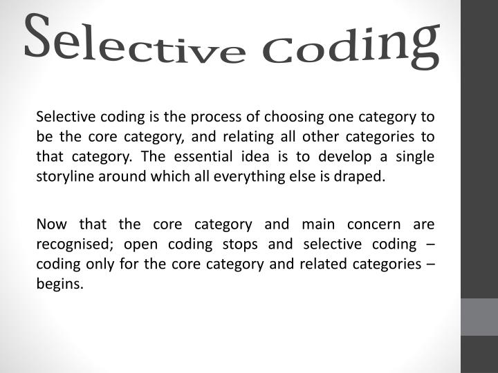 Selective Coding