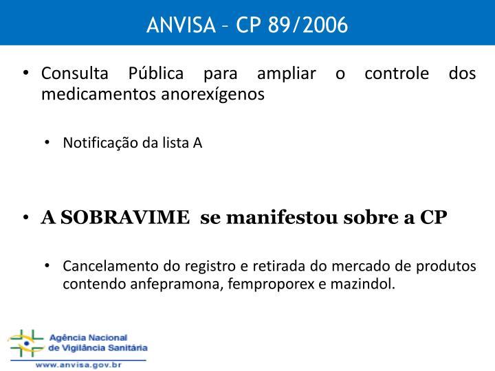 ANVISA – CP 89/2006