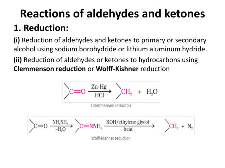 Reactions of aldehydes and