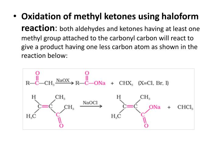 Oxidation of methyl ketones using