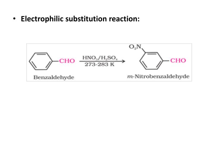 Electrophilic substitution reaction: