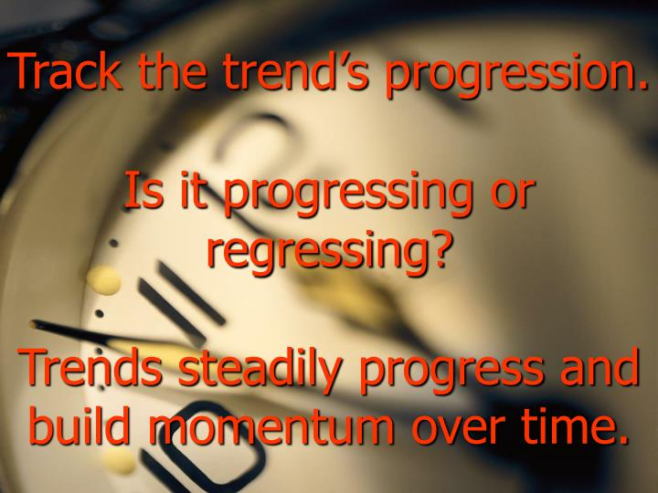 Track the trend's progression.