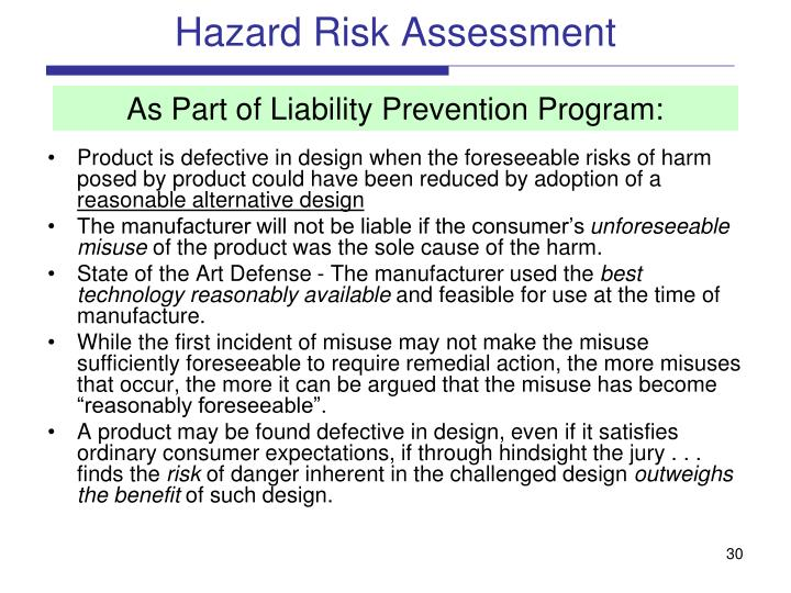 Hazard Risk Assessment