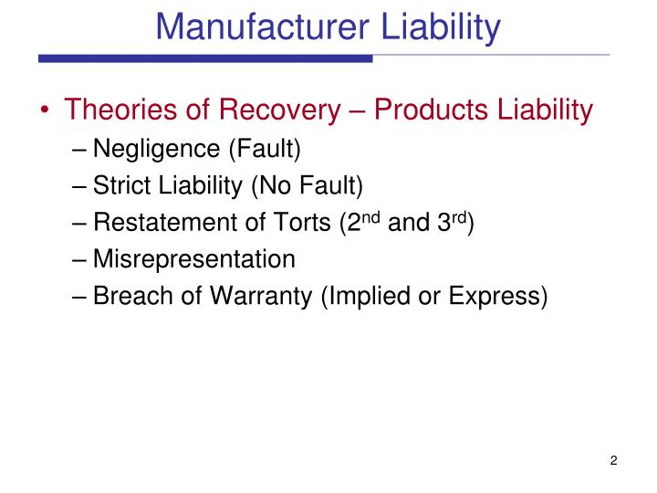 Manufacturer liability