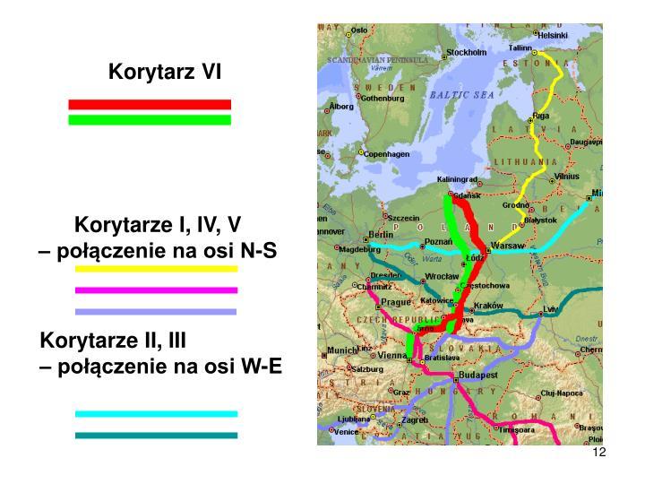Korytarze I, IV, V