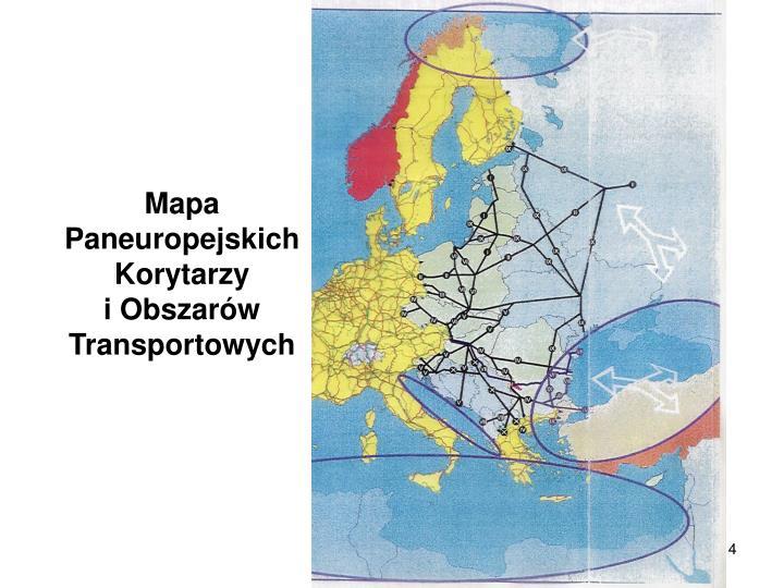 Mapa Paneuropejskich Korytarzy