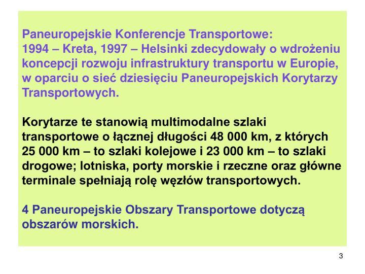 Paneuropejskie Konferencje Transportowe: