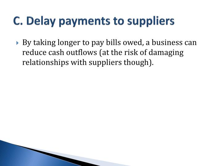 Late supplier payments lead to low performance, higher ...
