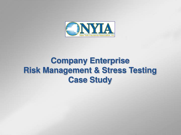case study on stress management in organisation