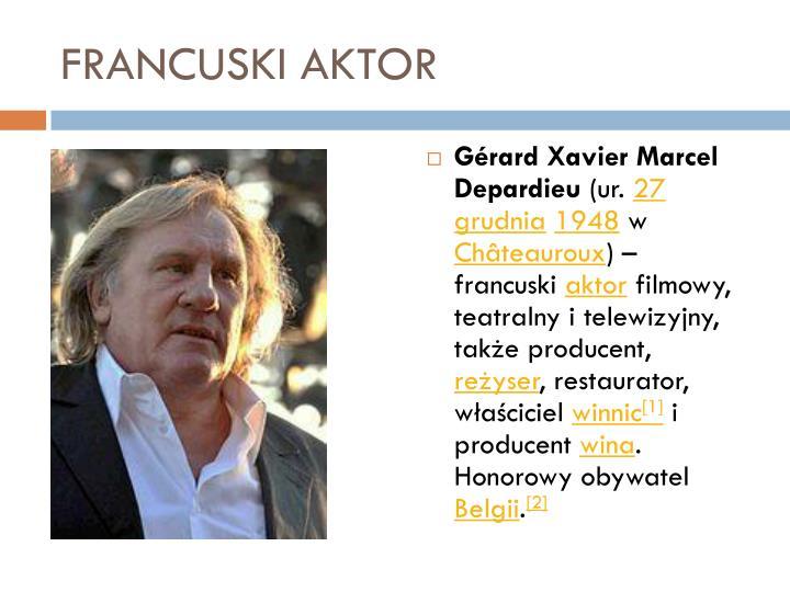 FRANCUSKI AKTOR