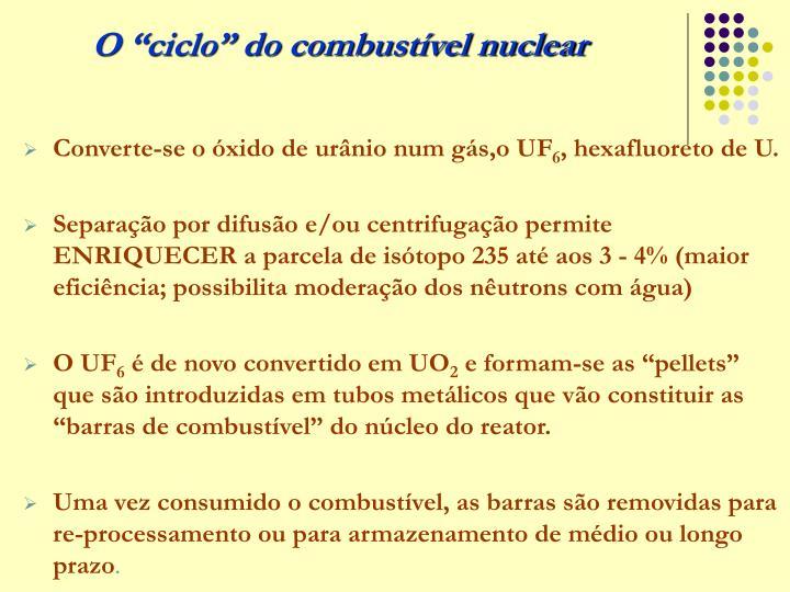 """O """"ciclo"""" do combustível nuclear"""