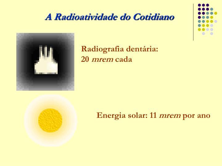 Radiografia dentária: