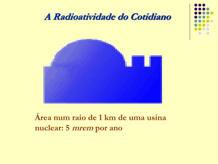 A Radioatividade do Cotidiano