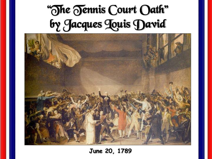 """The Tennis Court Oath"""