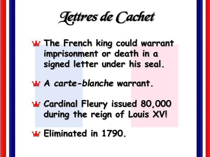 Lettres de Cachet