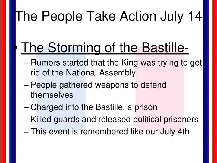 The People Take Action July 14