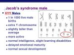 jacob s syndrome male