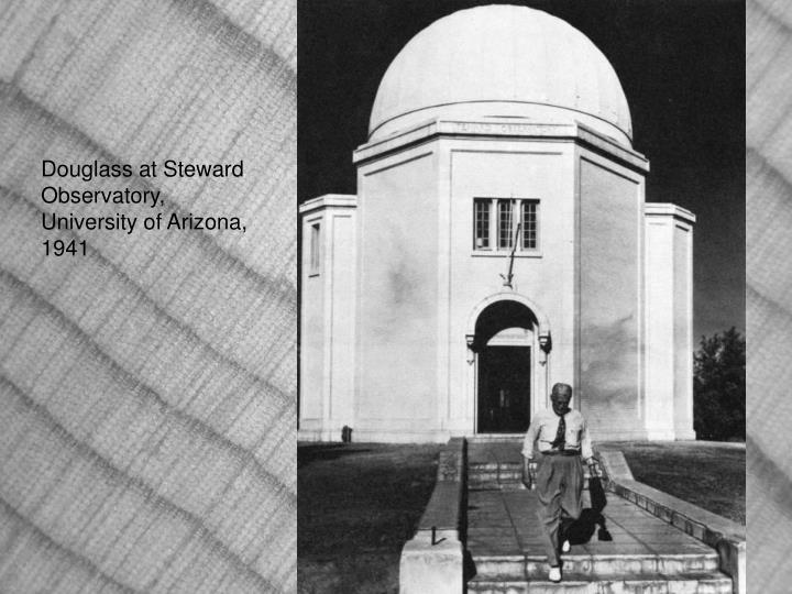 Douglass at Steward Observatory, University of Arizona, 1941
