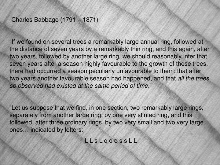 Charles Babbage (1791 – 1871)