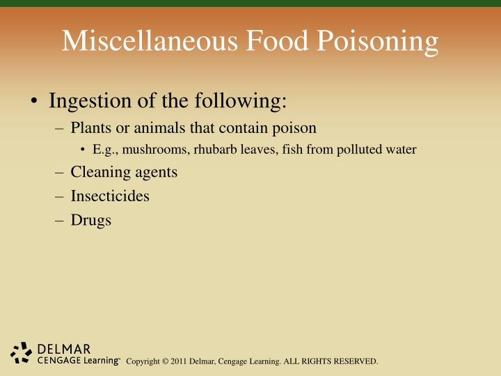 Miscellaneous Food Poisoning