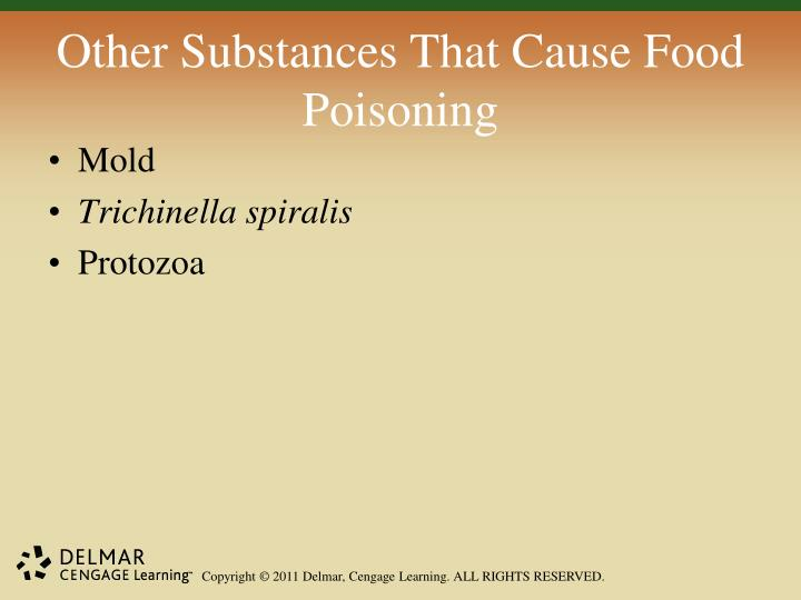 Other Substances That Cause Food Poisoning