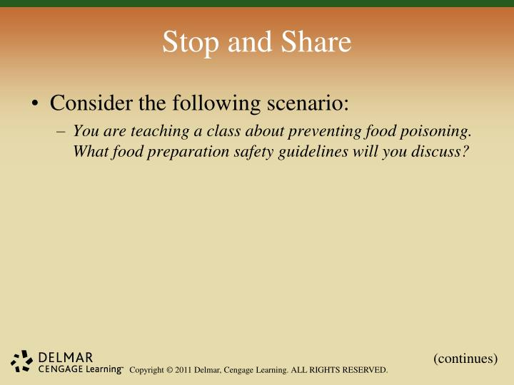 Stop and Share