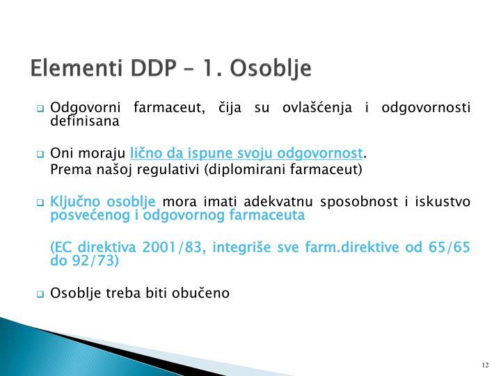 Elementi DDP –