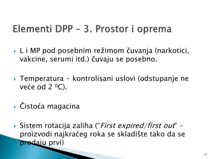 Elementi DPP