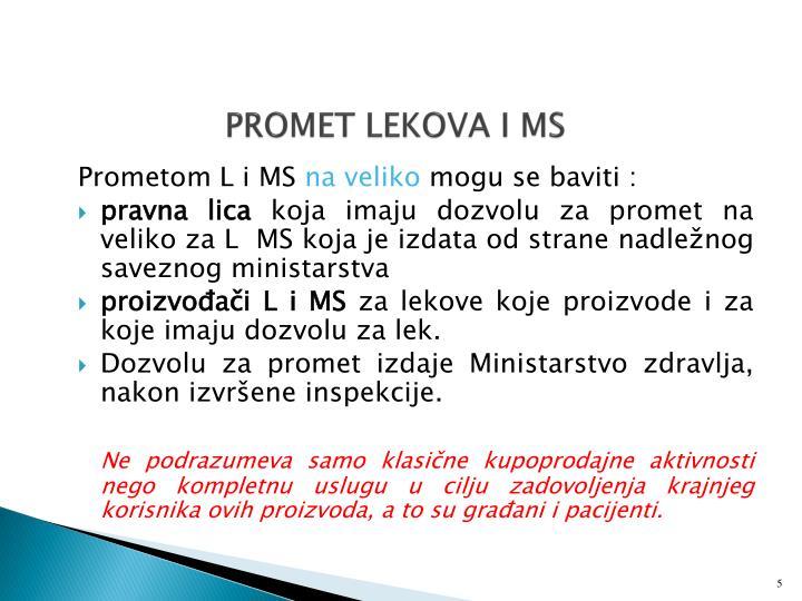 PROMET LEKOVA