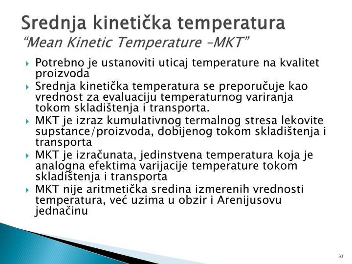 Srednja kinetička temperatura